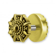 BRASS TRIBAL FAKE PLUG mod.4