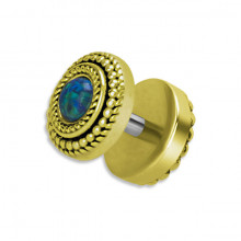 BRASS TRIBAL OPAL FAKE PLUG 1,2x6mm