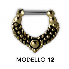 TRIBAL BRASS SEPTUM CLICKERS MODELLO 12