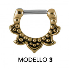 TRIBAL BRASS SEPTUM CLICKERS MODELLO 3