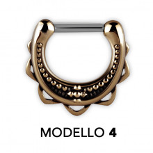 TRIBAL BRASS SEPTUM CLICKERS  MODELLO 4