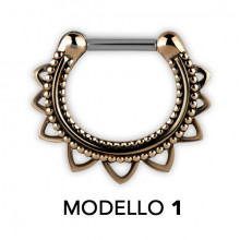 TRIBAL BRASS SEPTUM CLICKERS MODELLO 1