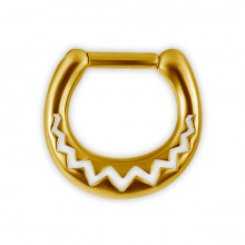GD 316 SEPTUM CLICKERS AFRICAN PATTERN