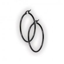 BK 316 STEEL ROUND HOOP EARRINGS (2mm)