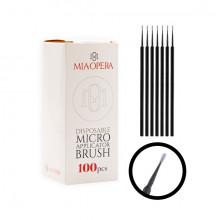 MiaOpera Black Micro Applicator Brush 100pcs