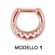 RG 316 SEPTUM CLICKERS AFRICAN PATTERN